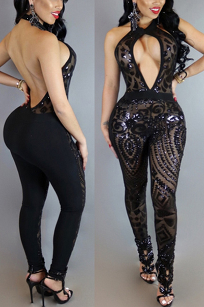 Healthy Fabric Solid Skinny Jumpsuits<br>