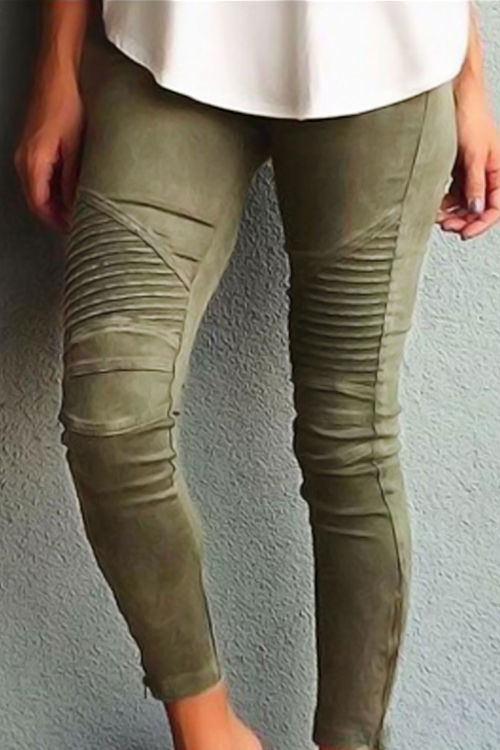 Cotton Solid High Leggings<br>