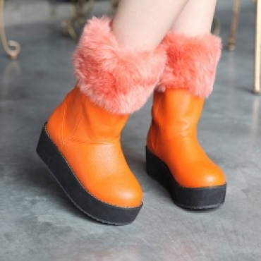 Plus size wholesale comfortable platform winter boots