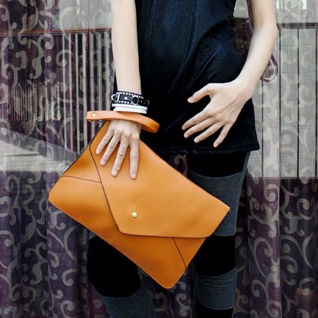 Fashionable And Charming Style Blue PU Hasp Messenger&Crossbody