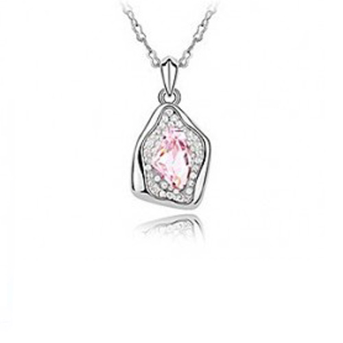 New Style Ana Charming Pink Crystal Flower Necklace