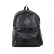 Hot Sales Zipper Design Solid Black Suede Backpack