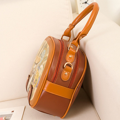 Fashion Sweet Girls Zipper Design and Eiffel Tower Print Leather Clutches Bags