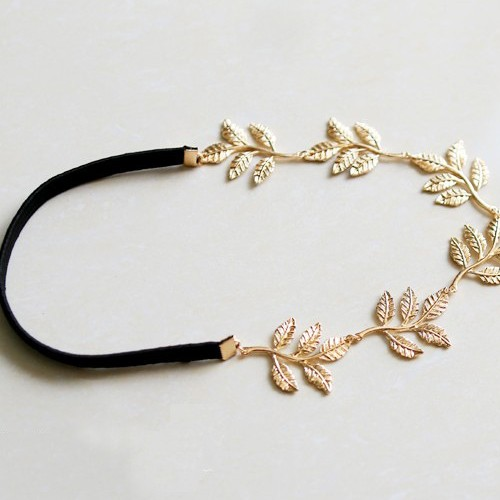 Fashion Sweet Olive Five-Leaf Embellished Metal Hairpin