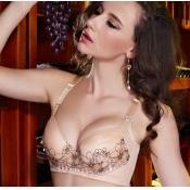 Sexy Plus-size Lace-trim Push-up  Cotton Bras