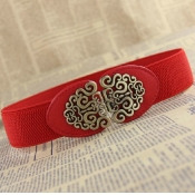 Fashion Retro Red Elastico Belts