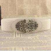 Fashion Retro Elegant Cream-colored Elastico Belts