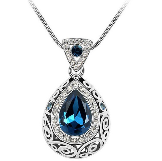 Fashion Blue Metal Necklace