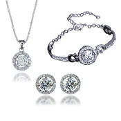 Fashion Silver Metal Wedding Jewelry Sets