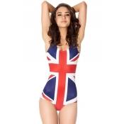 Sexy Woman Striped One Pieces UK Flag Bikini