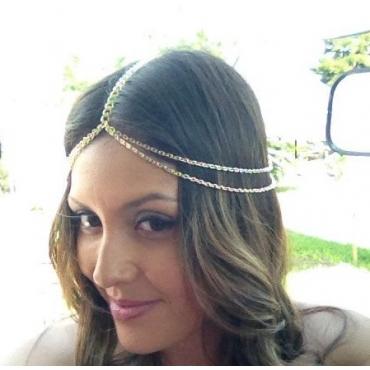 Fashion Tassel Gold Metal Hairpin