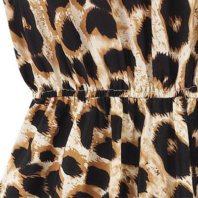 Trendy Women's Sleeveless Printed Leopard Dress