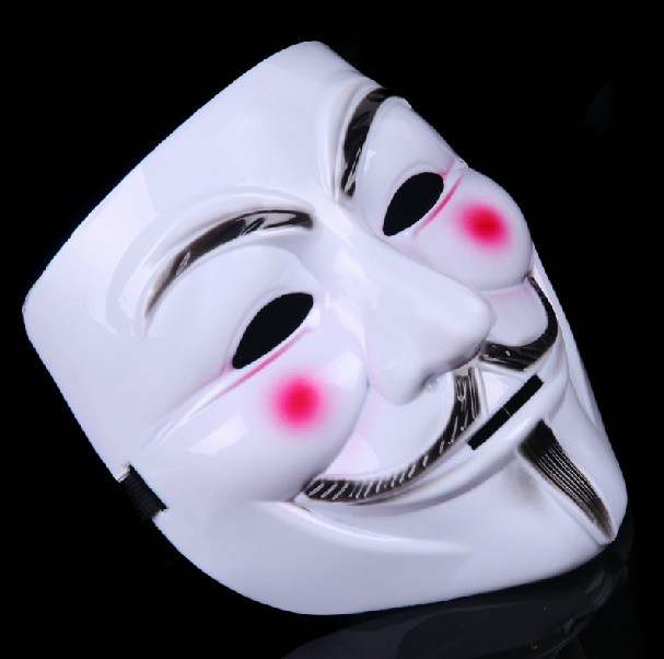 Cheap Fashion V-shape PVC Mask with Red Flush