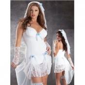Plus size NighClub Sexy Bride Wedding Dress White