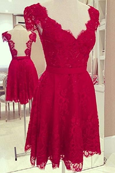 2c3b659e6 Robe rouge dentelle pas cher - Mode ecolo, vetement ethnique