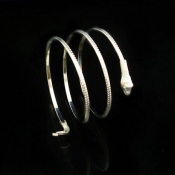 Cheap Vintage Winding Snake Shaped Silver Metal Br