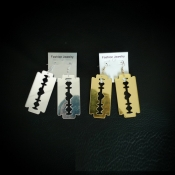 Cheap Fashion Sliver Blade Shaped Metal Earrings