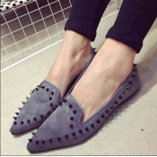 Casual Pointed Closed Toe Rivets Decoarted Basic L