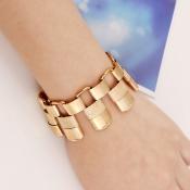 Fashion Waistband Shaped Gold Metal Bracelet