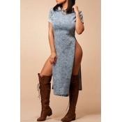 Blending Fashion O neck Short Sleeve Waist skirt K