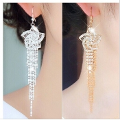 Fashion Sliver Crystal Earrings
