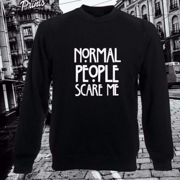 Casual Long Sleeves Letters Print Cotton Blend Regular Pullover Sweat