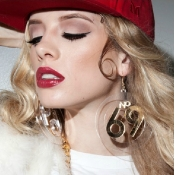 Fashion 69 Cricle Shaped Gold Acrylic Earrings