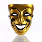Fashion Smiley Face Gold PVC Mask