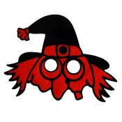 Halloween Skeleton Red PVC Mask