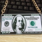 Fashion Dollar Note Shaped Acrylic Necklace