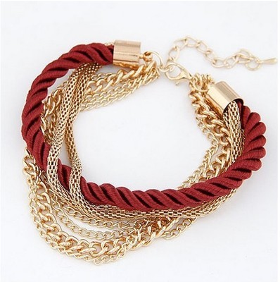 Fashion Multi-layered Red Knitting Bracelet