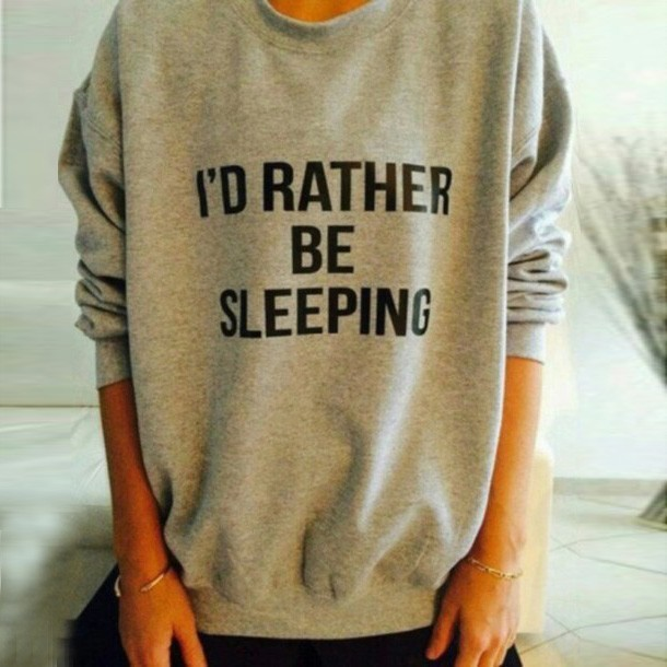 Casual O Neck Long Sleeves Letter Print Grey Pullover Sweat