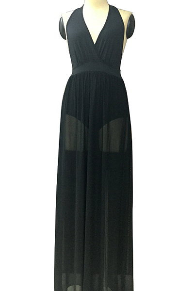 Xxs hobart Sleeveless High Waist Black Printed Dress lipsy terms