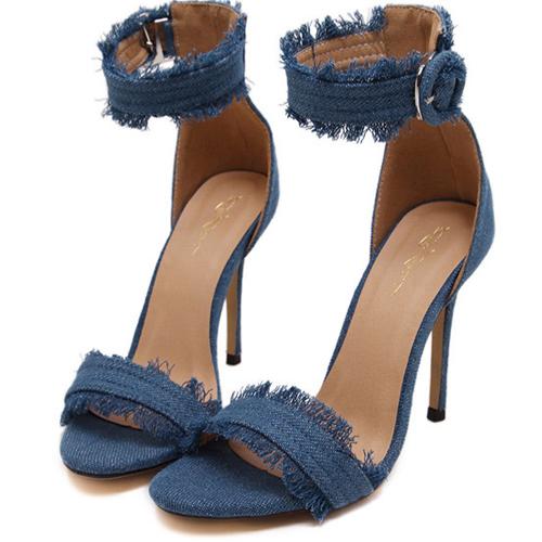 Abertura aberta do dedo do pé aberto-Stiletto Super High Heel Light Sandálias de PU
