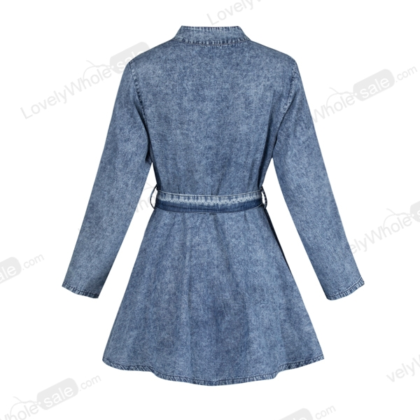 Mulheres Sexy Long Sleeve Bodycon Club Denim Jean Mini Dress