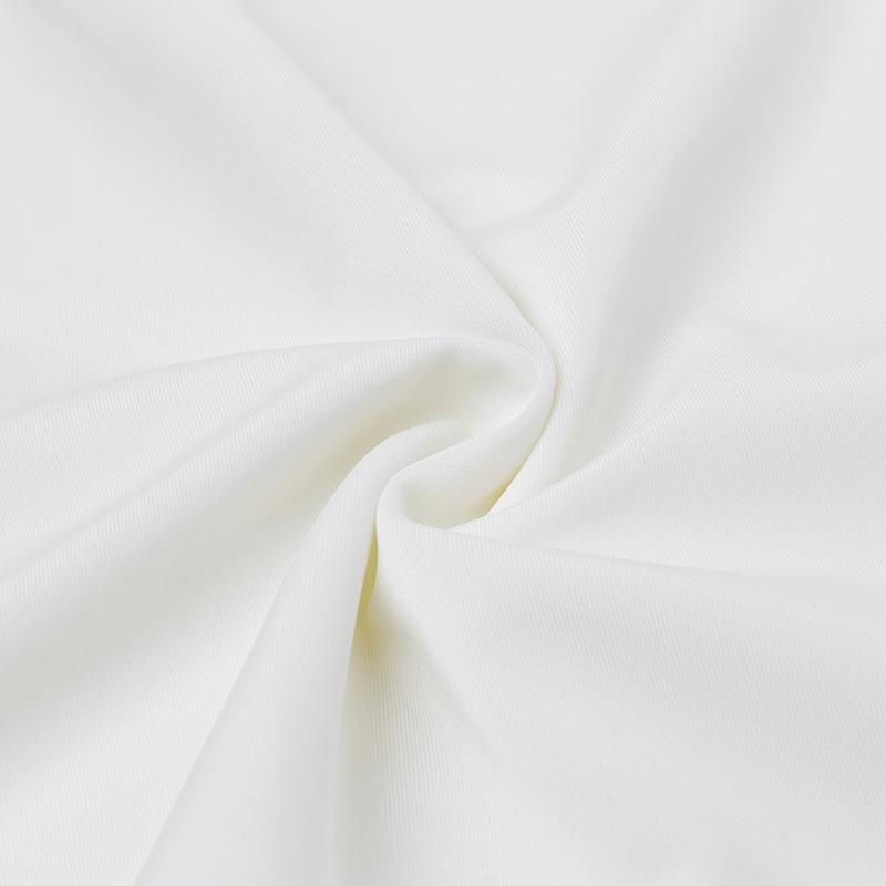 Sexy Scoop Neck Ärmellos Hollow-out Weiß Nylon Mantel knielangen Kleid