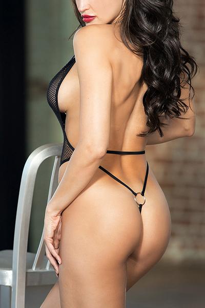 Sexy Deep V Neck Tassel Hollow-peles de poliéster preto