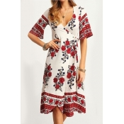 poppoly for the roses plunging wrap dress