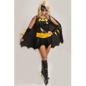 Stylish Color-block Patchwork Polyester Cosplay Co