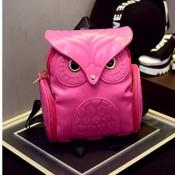 Stylish Owl Shaped Design Red PU Backpacks