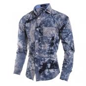 Trendy Turndown Collar Long Sleeves 3D Snowflake P