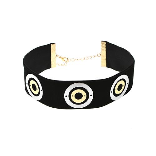 Fashion Copper Spiral Decorative Black Metal Choker