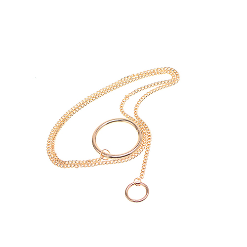 Fashion Copper Spiral Decorative Gold Metal Necklace