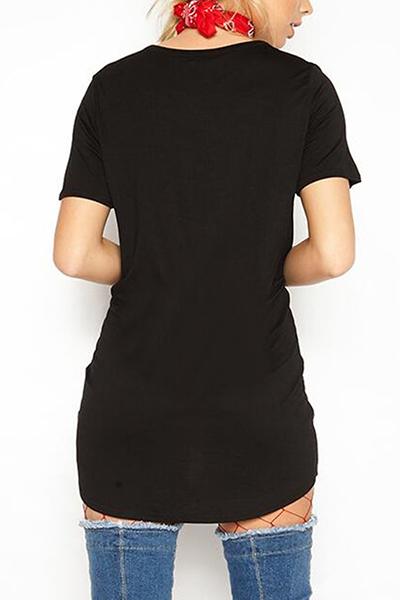 Cotton Fashion O neck Half Sleeve Mini Dresses