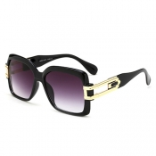 Euramerican Big Frame Design Black Acrylic SunglassesAcrylic Sunglasses
