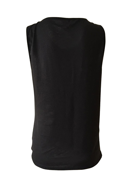 Pullovers Polyester O Neck Sleeveless Print T-shirt