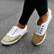 Canvas Round Toe Closed Toe Casual Basic Low Heel
