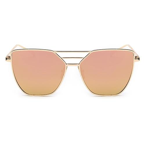 Euramerican Vuoto-fuori rosa Occhiali da sole in metallo