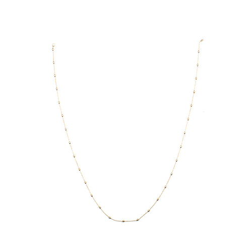Euramerican Hollow-out Gold Metal Necklace