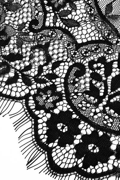 Sexy pescoço profundo V mangas compridas ver-através de renda preta de uma peça magro jumpsuits